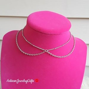 Layered Sterling Silver Choker Necklace